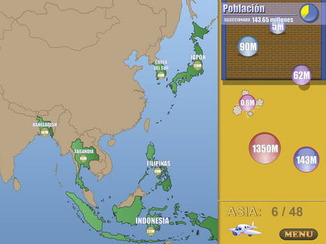 World Geography Game Asia Poblation game