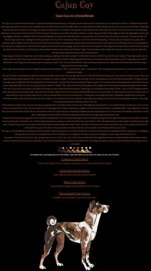 Cajun Coys by Egaree-Kennels on DeviantArt