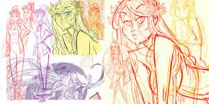 Khylov - Athena Character Sketch Pages