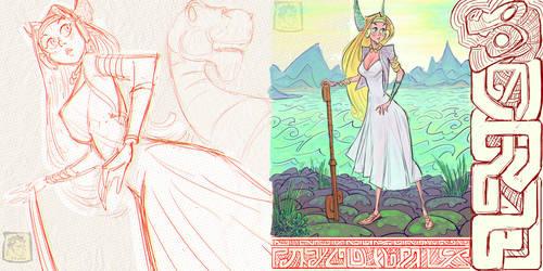 Khylov - Viking Fraulein Illustrations