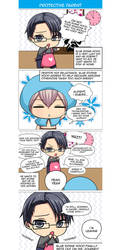 Seiyuu Danshi 4-KOMA manga example by meyaoigames