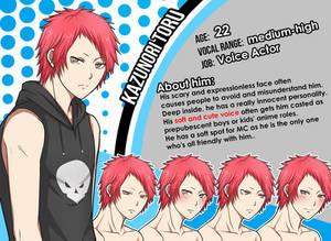 New Character Profile: Kazunori Toru
