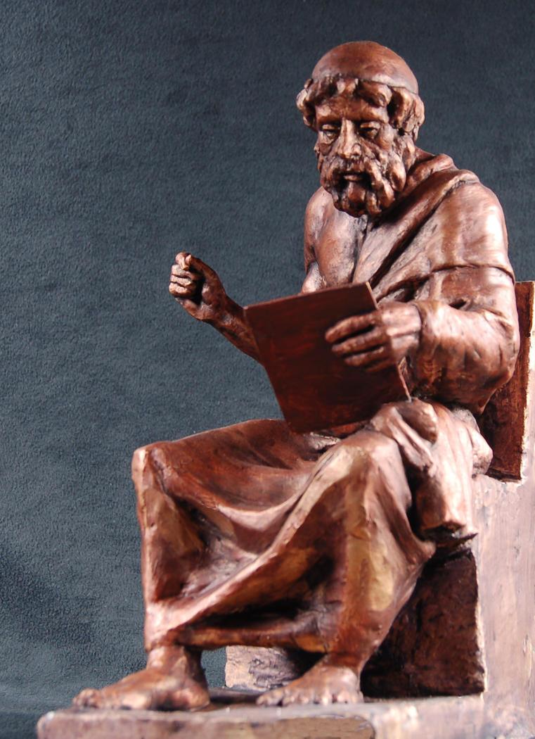 Plato's iPad -bronze by AdamReederSculptor