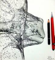 Splashing Water drawing by Hannaasfour