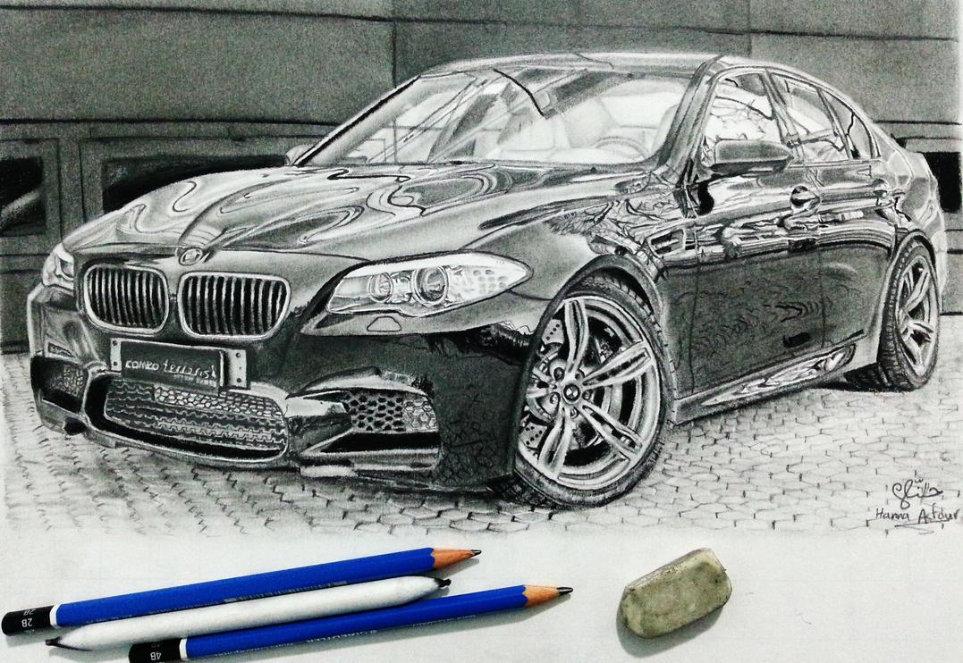 BMW M5 car drawing by Hannaasfour on DeviantArt
