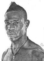 Mario Balotelli pencil drawing by Hannaasfour