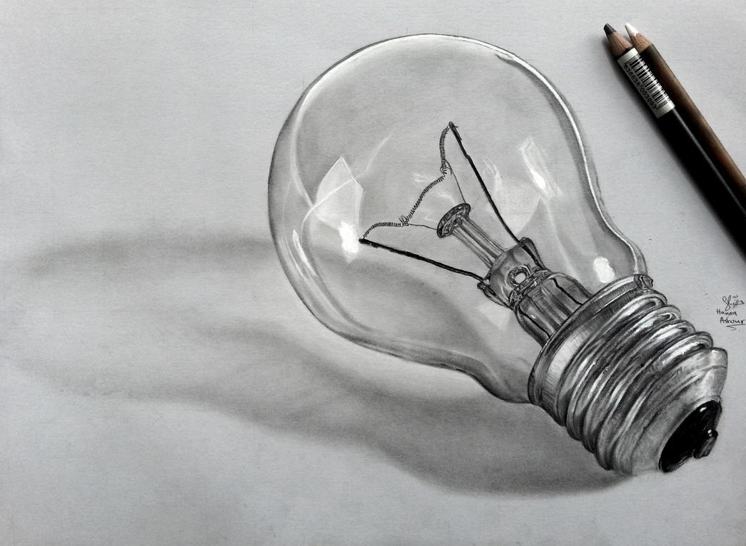 Ligh Bulb pencil drawing by Hannaasfour
