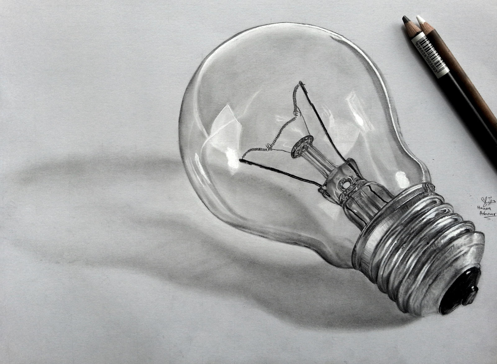Ligh Bulb pencil drawing by Hannaasfour