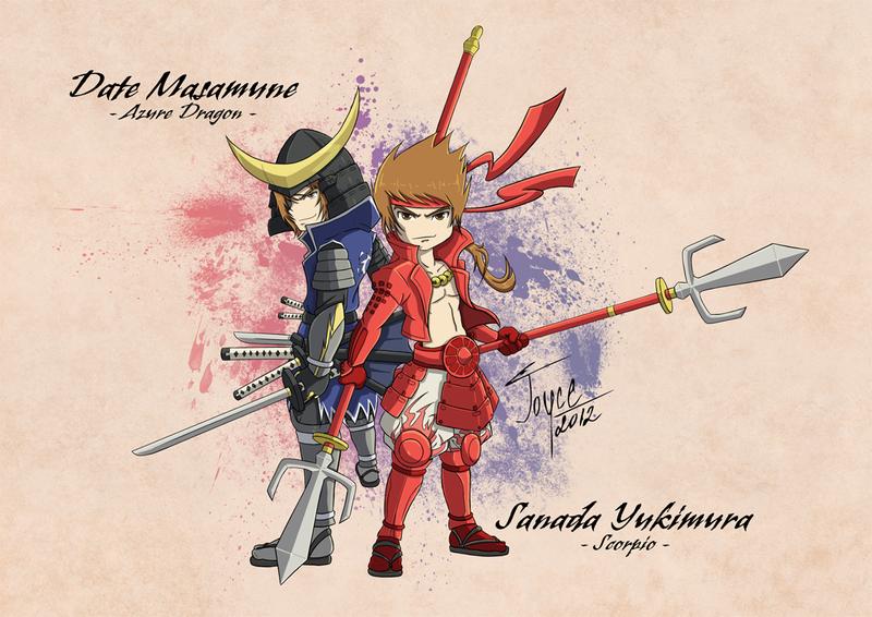 Red and Blue - Sengoku Basara by joysuko