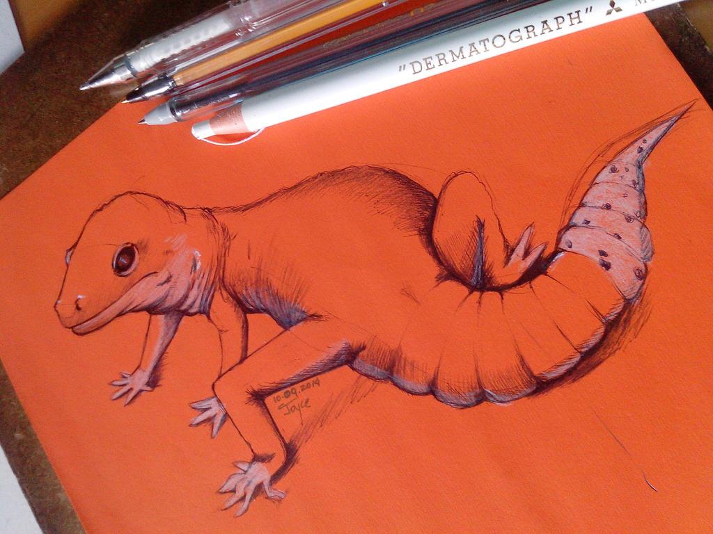 Lizard 2 Ballpoint by joysuko