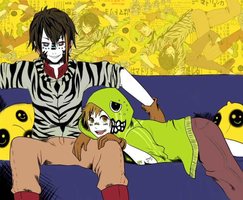 Zebra and Hashiyan by VocaloidYAOI