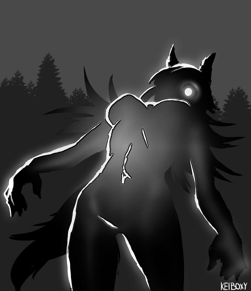 Inktober 2016 day 16 Wolf Girl by Keiboxy2