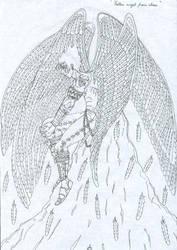Fallen angel from above.... by cedik