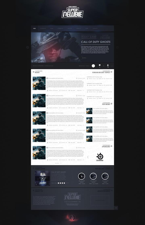 SuperNewbie Gaming Design By TomZGFX On DeviantArt - Game design forum