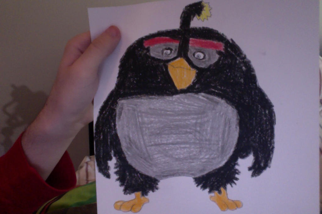 Drawing Angry Birds Movie: My Drawing Of Bomb (The Angry Birds Movie) By SplatCrosser
