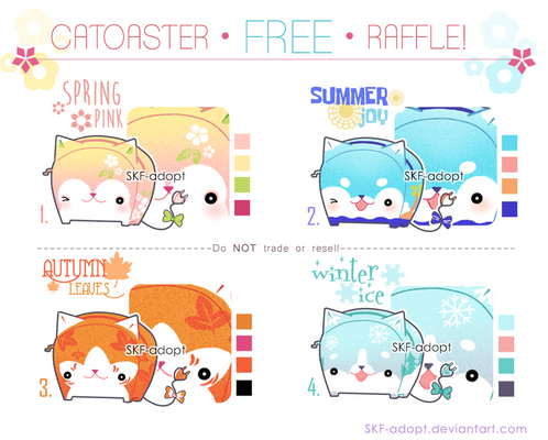 [CLOSED TY!+Winner] FREE Raffle!_Catoaster 4season