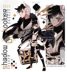 [CLOSED TY! OTA!]ShadowBooker Code15_Black GOLD
