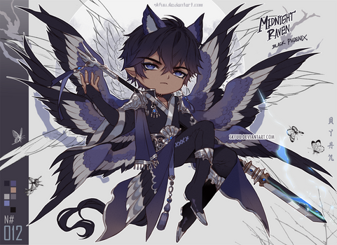 [closed TY OTA] MIDNIGHT RAVEN_Black Phoenix
