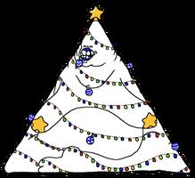 sans as a christmas tree