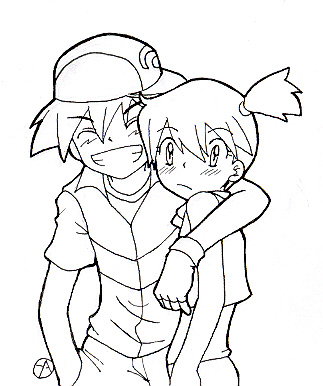 ash misty coloring pages - photo#30