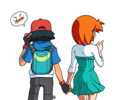 Ash e Misty - Camminata lato B by Ya-chan85