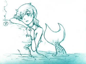 Mermaid sketch by Ya-chan85