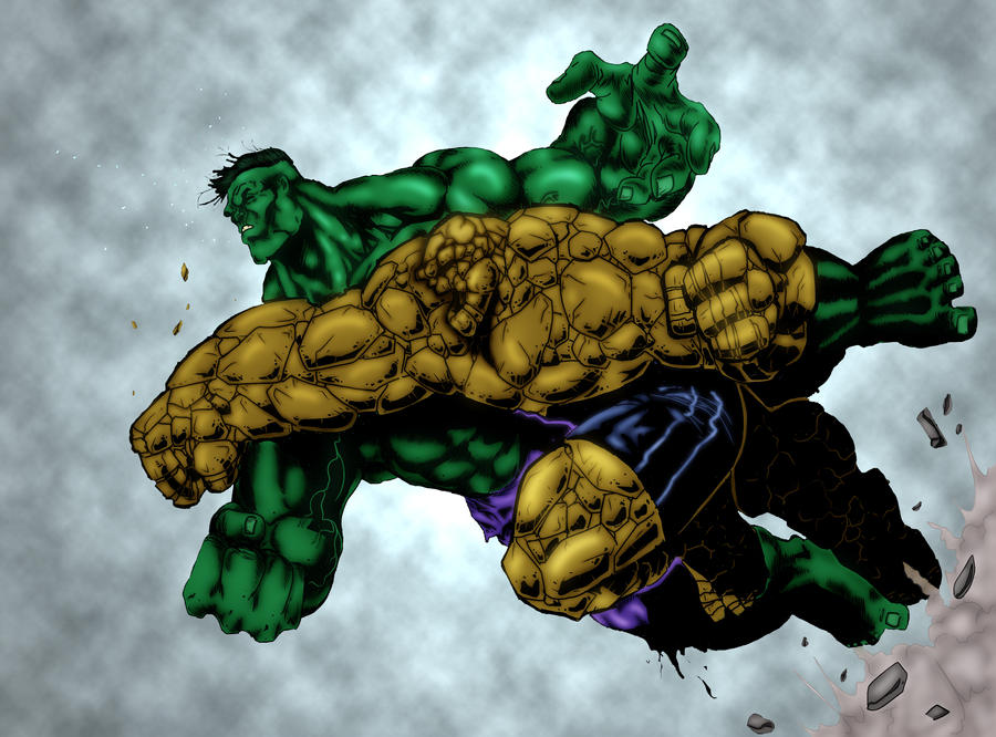 HulK vs Thing Colored by my wife Nikki! by RodneyCJacobsen on ...