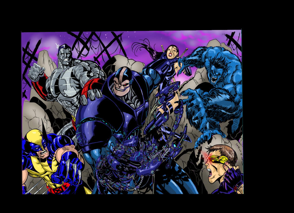 X-Men VS Apocalypse Color by RodneyCJacobsen