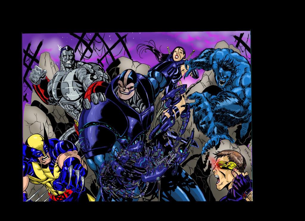 X-Men VS Apocalypse Color by RodneyCJacobsen