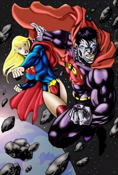 Bizzaro VS Super Girl Colored