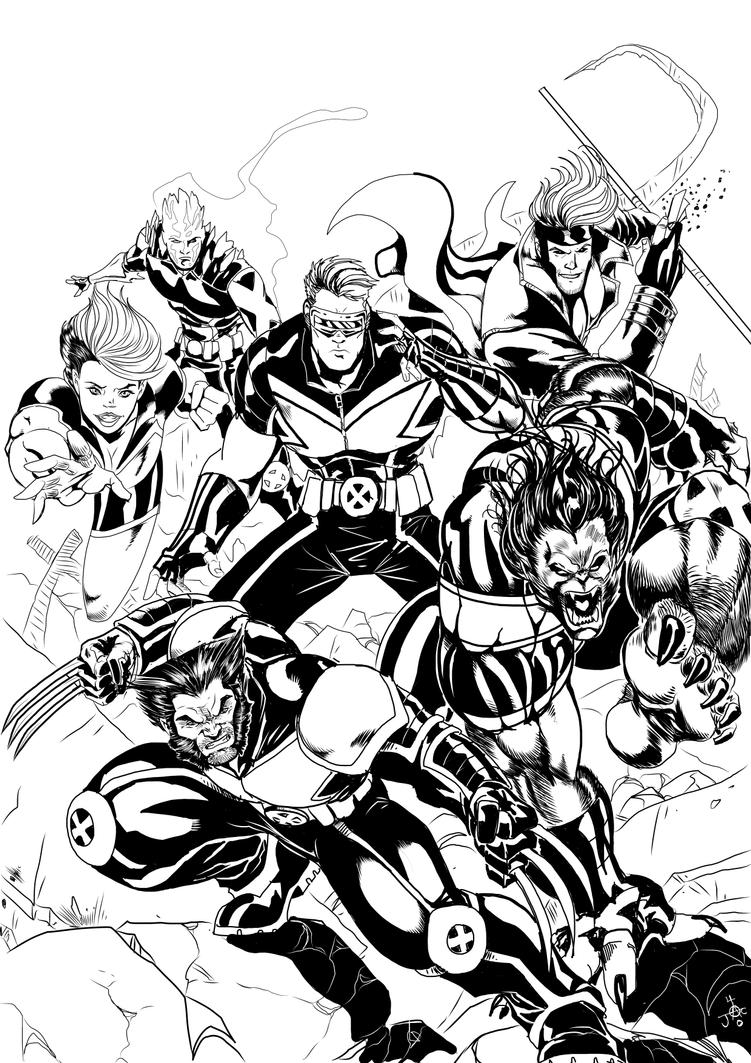 X-men Fan Comic Contest Cover by RodneyCJacobsen