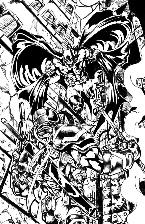 Batman Deathstroke by RodneyCJacobsen