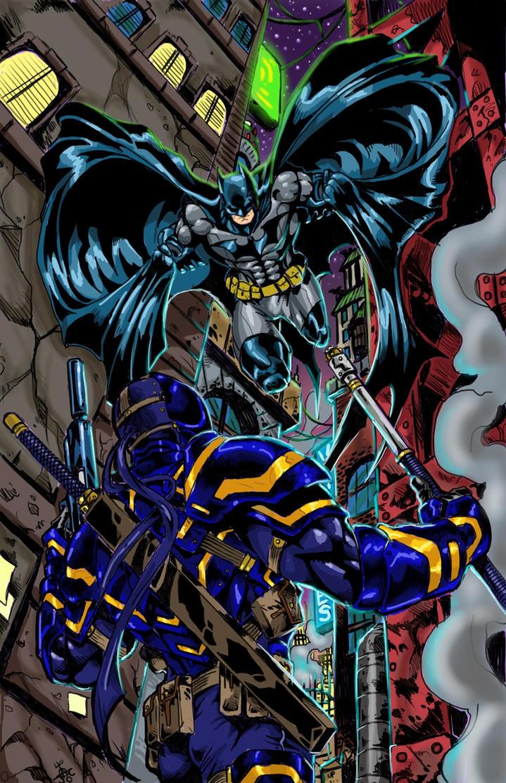 Batman Deathstroke color1 by RodneyCJacobsen