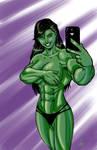 She Hulk Selfie