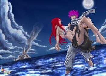Fairy Tail  Natsu saves Erza by RJDART