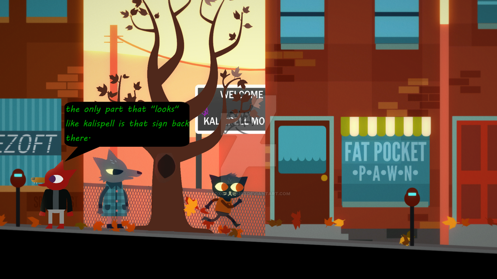 me somewhere in kalispell IN night in the woods! by foxgamer383