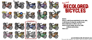 [CUSTOM] Recolored Bicycles by PyrotechnicMedic