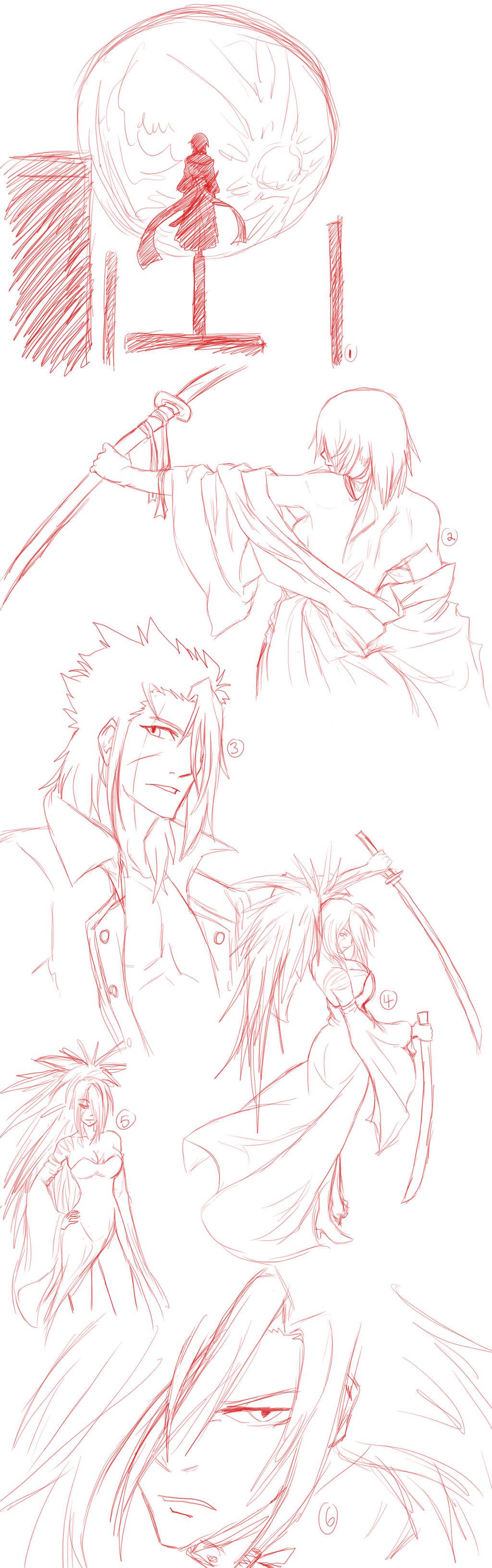 Random sketches bleach and rough idea by noir fox5 on for Random sketch ideas