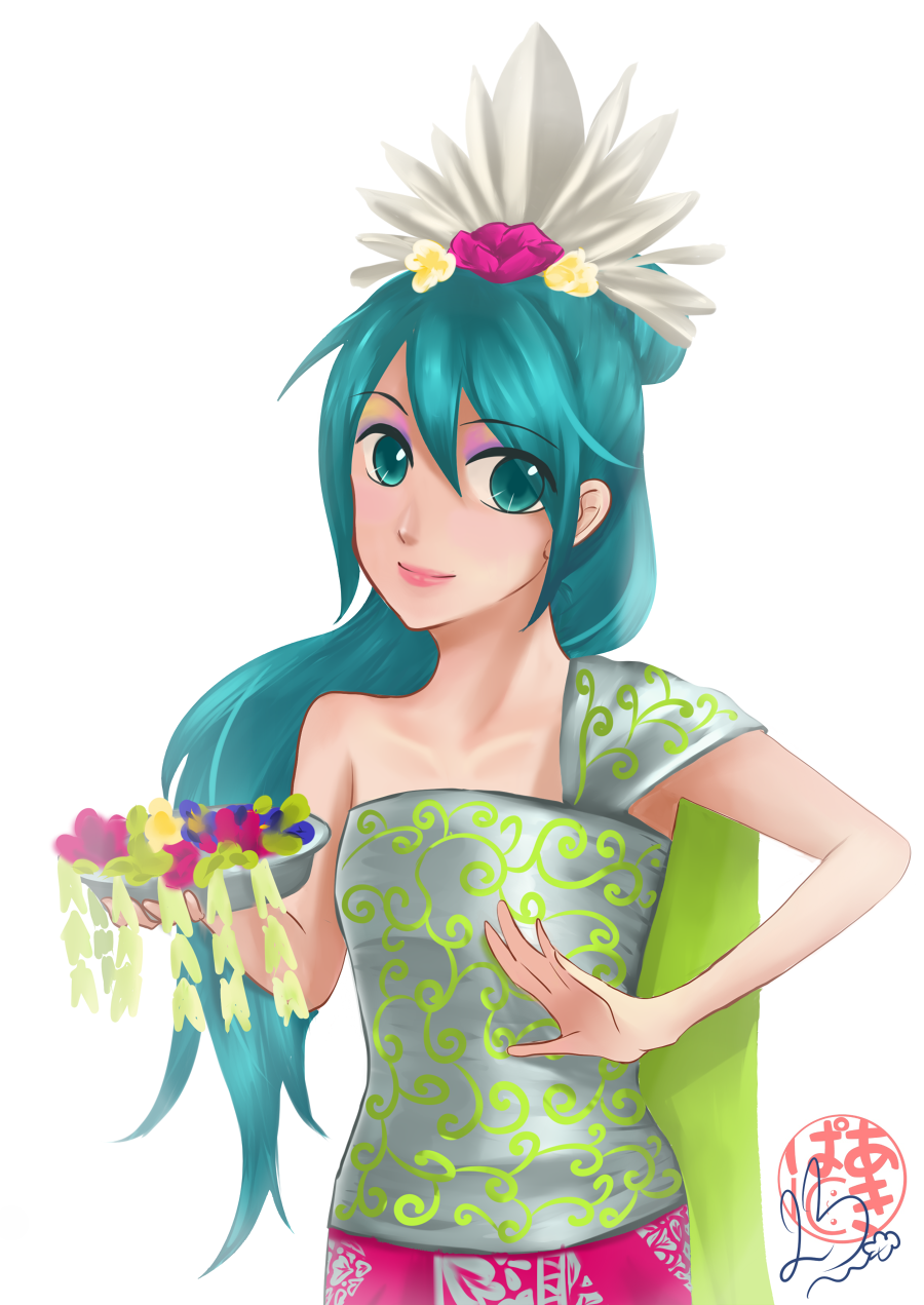 Hatsune Miku as Balinese Dancer by fuicchi-nee