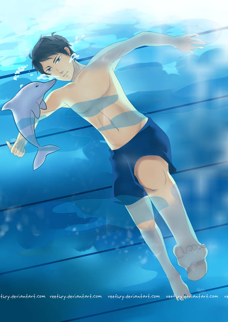 :NNK: Swim with Baby Dolphin by fuicchi-nee