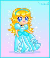 Chibi Peach Cinderella by Princess-Peachie