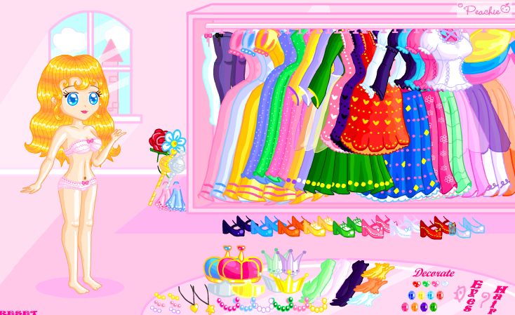 Romantic Princess Dress Up by Princess-Peachie on DeviantArt