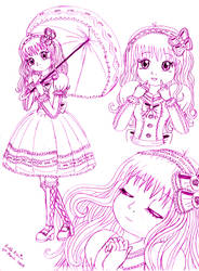 Harmonious Lolita Girl by Princess-Peachie