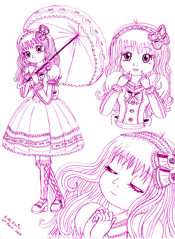 Harmonious Lolita Girl by Princess-Peachie