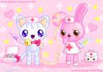 Nurse Kitty + Nurse Bunny