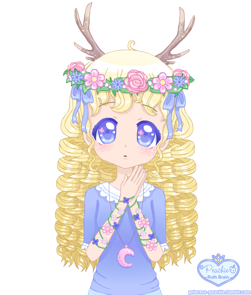 Little Antlers Girl by Princess-Peachie