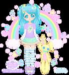 Sasha Blue + Trinket the Bunny