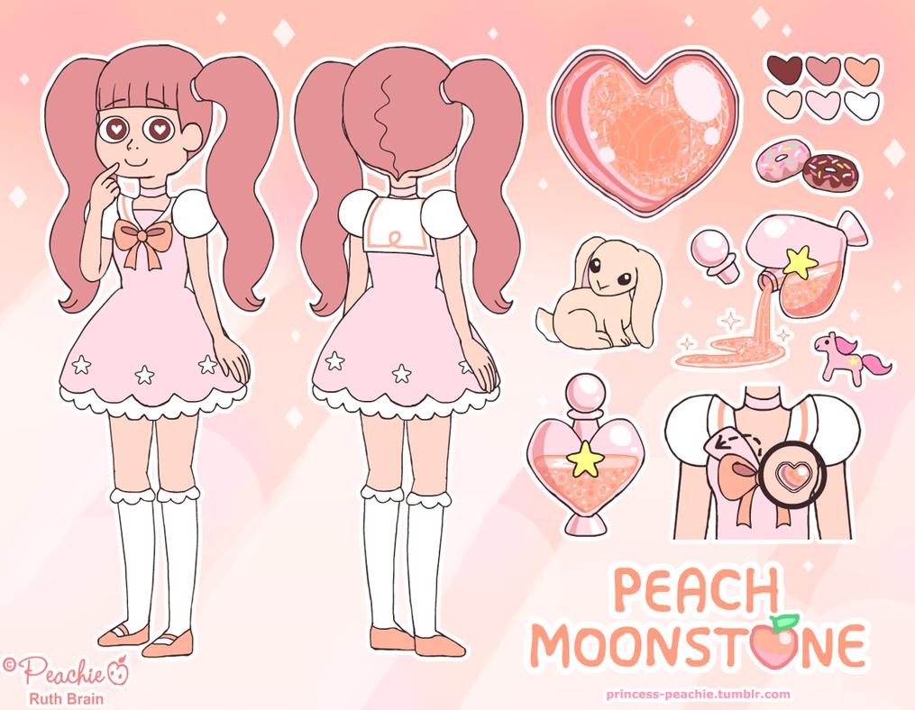 Crystal Light Challenge Peach Moonstone Gemsona By
