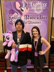 Me and Kelly Sheridan by MonsieurZemuya