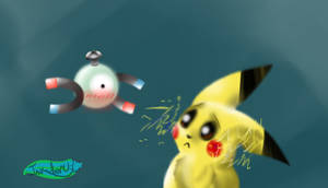 Magnemite and Pikachu